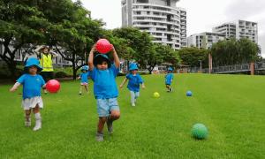 Childcare children having a blast in Roma Street Parklands Brisbane