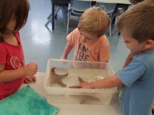 Kids enjoying the live marine demonstration Deception Bay Child Care